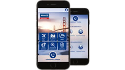 Allianz - smartphone with TravelSmart App