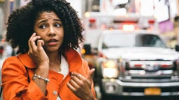 thumbnail of woman calling assistance in an emergency